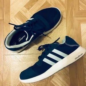 Navy Blue Adidas Cloudfoam Sneakers